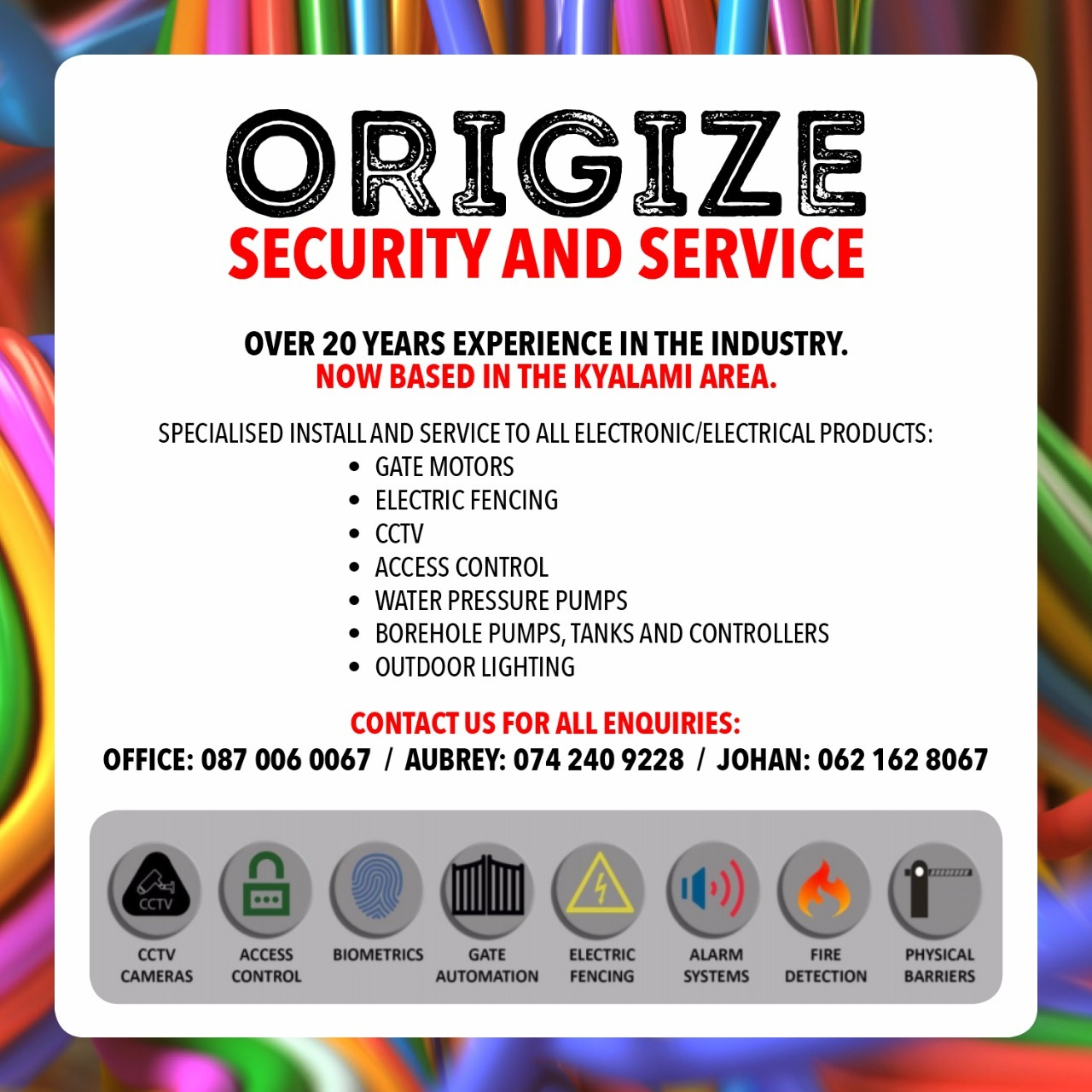 Origize security services