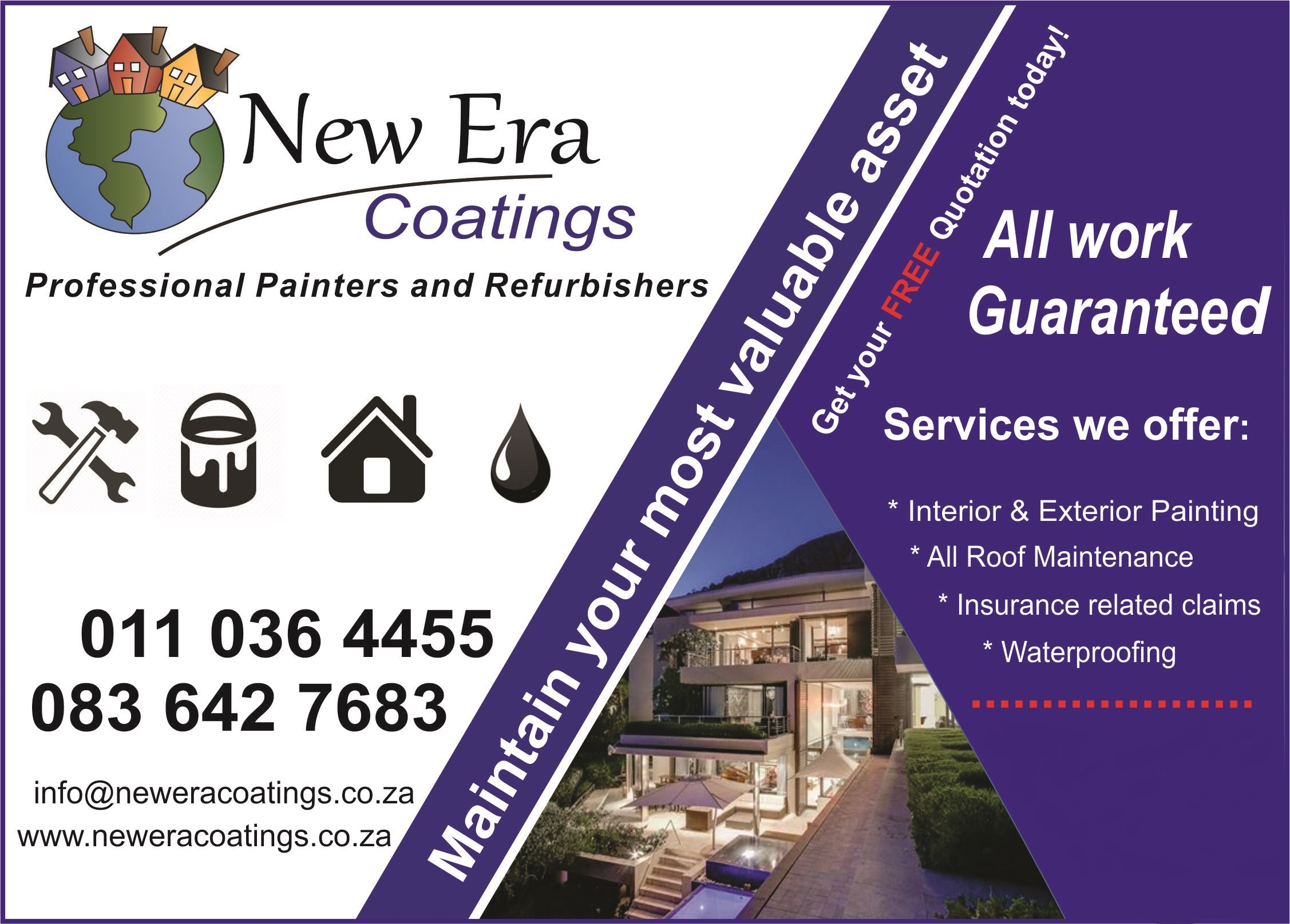Roofing and painting Contractors ( Cape Town and JHB)